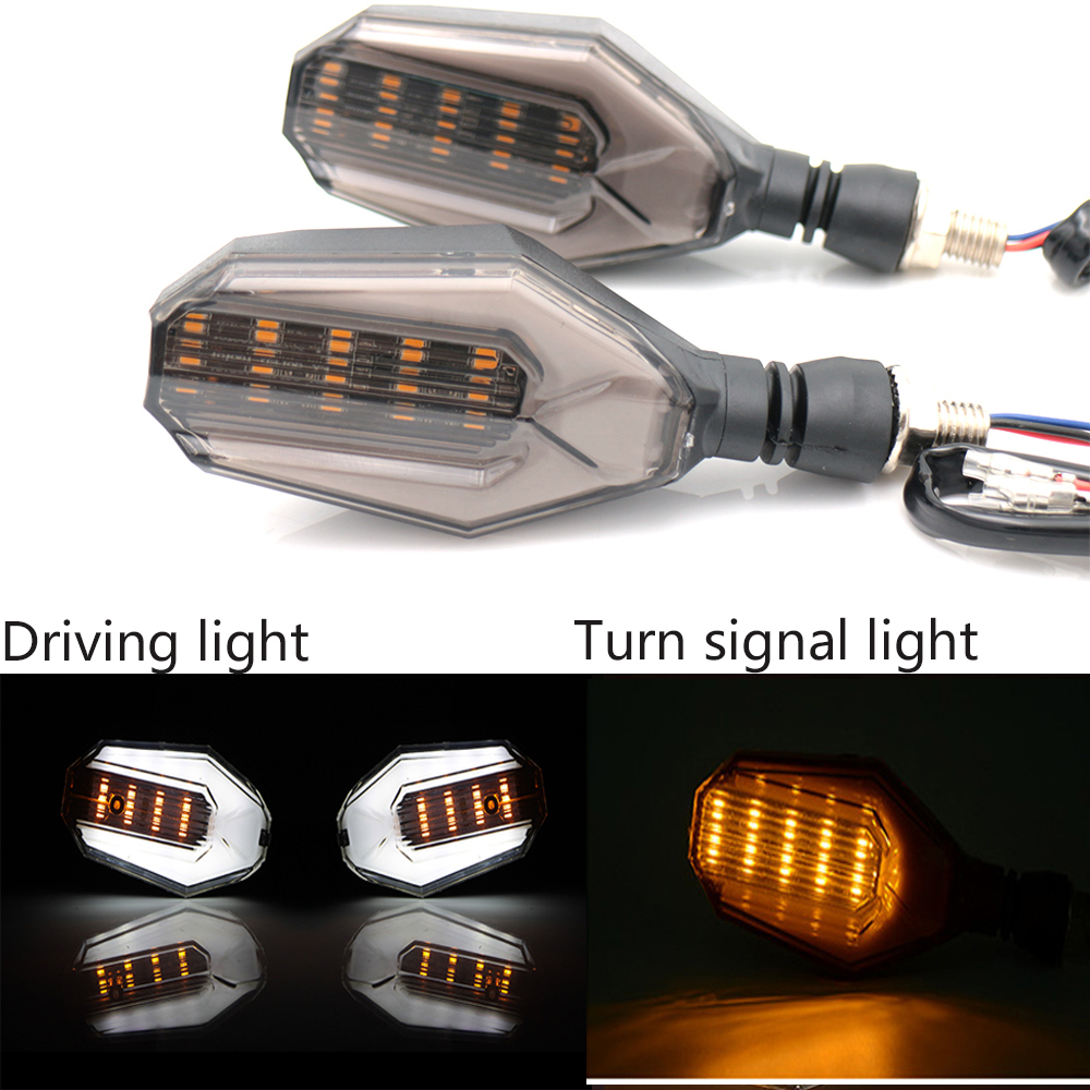 Motorcycle LED Turn Signal Lights Amber Lamp Signals Indicators Blinkers 3 Wires Universal For Honda Kawasaki Wholesale Price