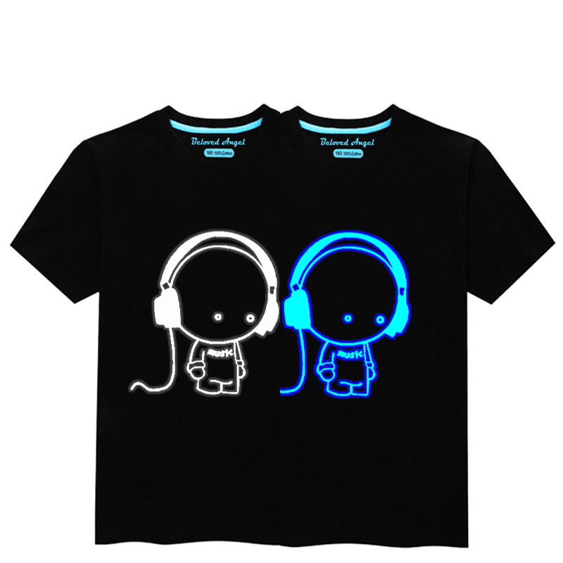 HTB1RfVVRVYqK1RjSZLeq6zXppXab - Luminous Short Sleeves T-Shirt For Boys T Shirt Spiderman Christmas Teen Girls Tops Size 3-15 years Teenage Toddler Boy Tshirts