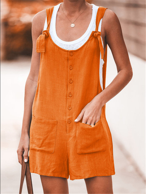Women Rompers Solid Jumpsuit Summer Short  Jumpsuit Female Wrapped Strapless Playsuit 28