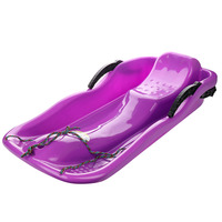 Outdoor Sports Plastic Skiing Boards Sled Luge Snow Grass Sand Board Ski Pad Snowboard With Rope