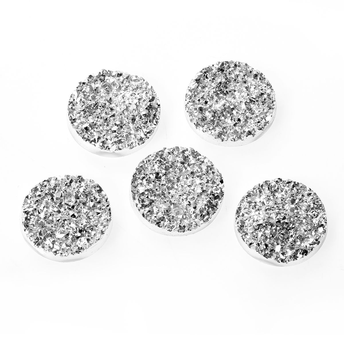MJARTORIA 20PCs Round Twinkling Dome Resin Cabochon 18mm 12mm Charm Flatback DIY Jewelry Findings & Components Fit Cabochon Base