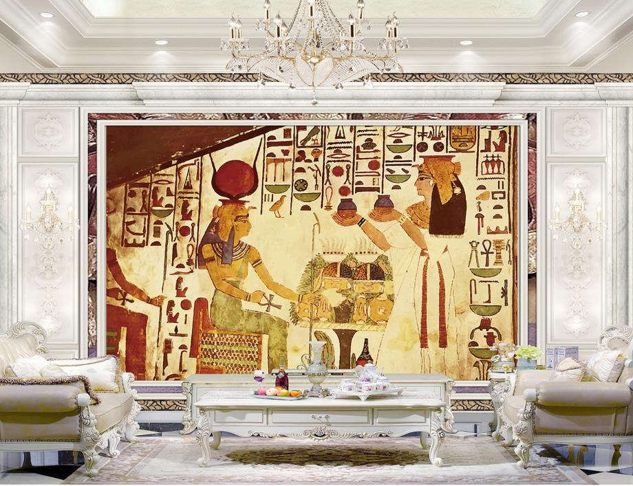 Popular egyptian photos buy cheap egyptian photos lots for Egyptian mural wallpaper