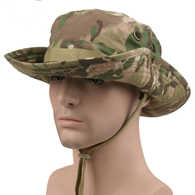 406b70058ef19 Outdoor tactical Airsoft Sniper camp Boonie Hats Nepalese Shade Cap Mens  American Army Military Camouflage sun