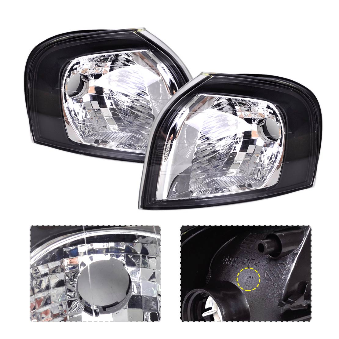 CITALL 2pcs Turn Signal Corner Light Lamp 30655422 30655423 for Volvo S80 1999 2000 2001 2002 2003 2004 2005 2006 LHD Only jeazea glove box light storage compartment lamp 1j0947301 1j0 947 301 for vw jetta golf bora octavia 2000 2001 2002 2003 2004
