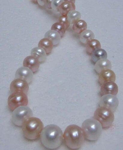 Livraison gratuite 12-15 MM mer du sud naturel blanc rose violet collier de perles 14KGP