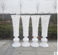 Factory direct sale, trumpet vase, plastic vases, road sticky drill, three dimensional opening ceremony, celebration style, wed