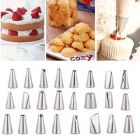 Stainless Steel Cake Decorating Icing Pastry Piping Nozzles Tips Set Decorating Pen 24 Pcs Cake Tools