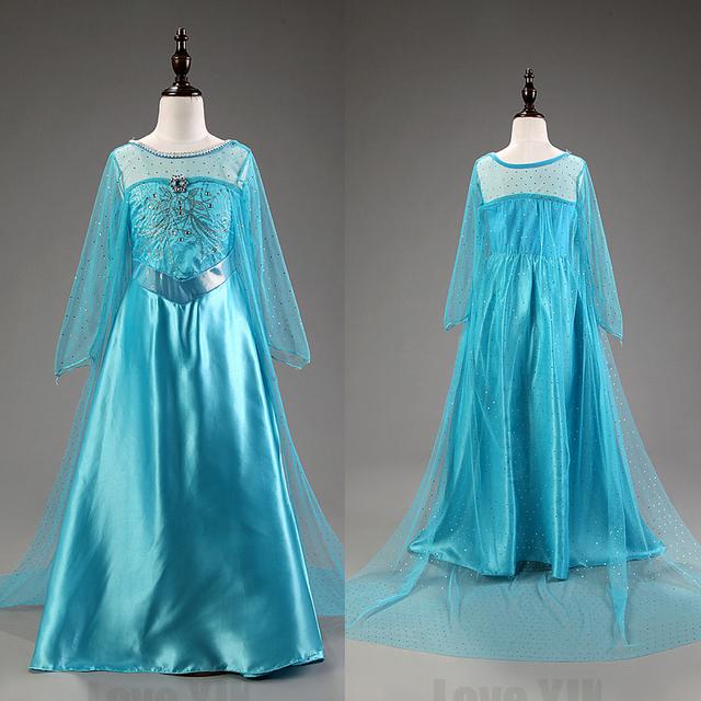 New chegou Elsa princesa crianças vestido de festa Fantasia Vestidos crianças Vestidos de verão Vestidos de Anna personalizado venda quente