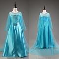 Nuevo llegado Elsa princesa de las muchachas del partido del vestido Fantasia Vestidos de los Vestidos Anna verano niños de encargo viste la venta caliente