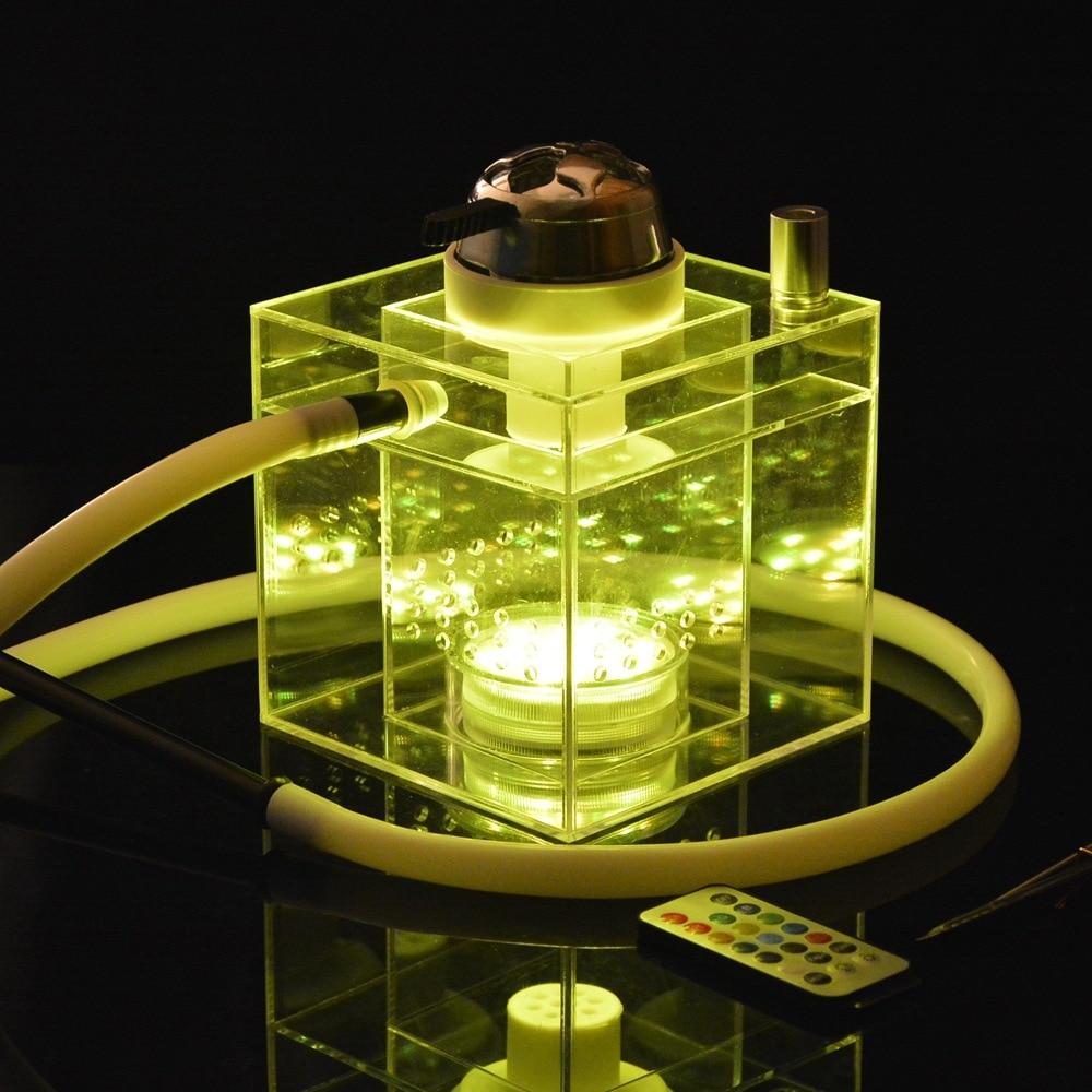 2019 Arab Acrylic Hookah Set,Hookah Cachimba Shisha Narguile LED Light Charcoal Tigela Hookah Base Sisha accessories Party Gifts