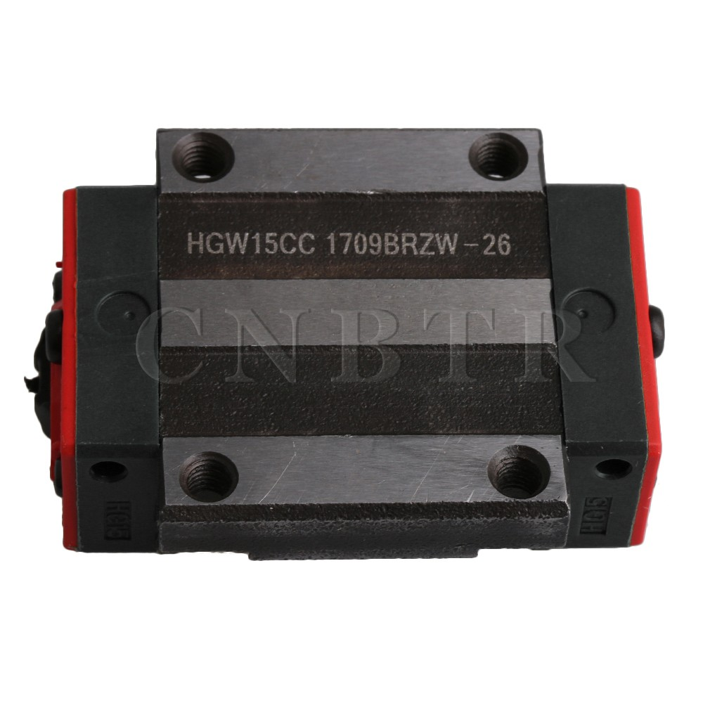 CNBTR HGW15CC Flange Type Bearing Steel Linear Guide Rail Sliding Block Carriage Rail Block Slider for HR15 Linear Rail Guideway боковые кусачки topex 180 мм 32d107