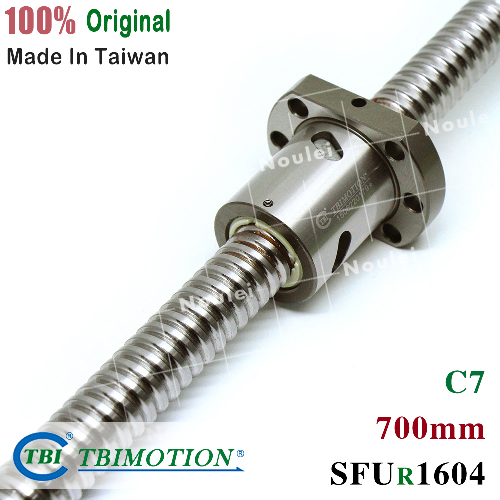 TBI 1604 700mm C7 ball screw 4mm lead with SFU1604 ballnut for CNC z axis diy kit Custom set high stabilityTBI 1604 700mm C7 ball screw 4mm lead with SFU1604 ballnut for CNC z axis diy kit Custom set high stability