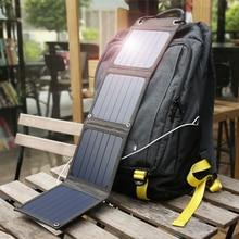 لوح طاقة شمسية محمول من Suaoki مزود بإضاءة الشمس بقدرة 14 وات شاحن 5 فولت 2.1A مزود بمنفذ USB للهواتف الذكية والأجهزة اللوحية في الهواء الطلق