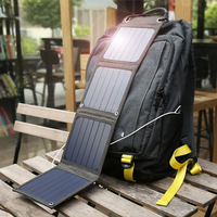 Suaoki Sun Light Power 14W Solar Cells Charger 5V 2.1A USB Output Devices Portable Solar Panels for Smartphones Tablet Outdoors