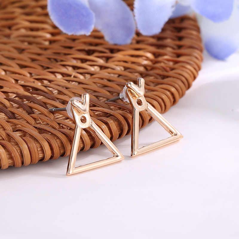 Joyería de moda bonitos pendientes triángulo Ms. Square pendientes diseño único pequeños pendientes geométricos señora regalo del día del alentine