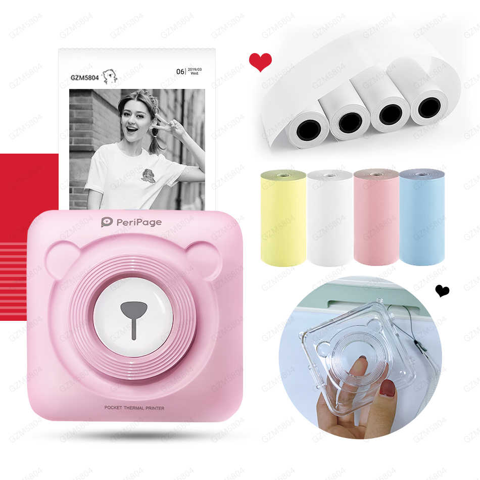 Baru!! 304 Dpi Resolusi Tinggi Peripage Foto Mini Bluetooth Printer Pocket Photo Printer untuk Ponsel Android dan IOS Hadiah