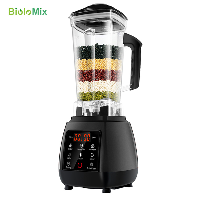 BPA FREE High Power Digital Touchscreen Automatically Program 3HP Blender Mixer Juicer Food Processor Ice Green Smoothie 6