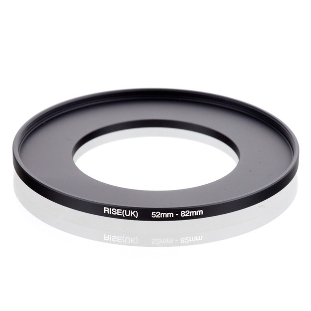 Original RISE (UK) 52 มม. 82 มม.52 82 มม.52 ถึง 82 Step Up แหวนอะแดปเตอร์ตัวกรองสีดำ