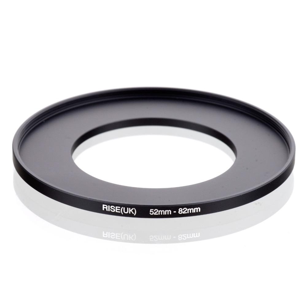 Original RISE(UK) 52mm-82mm 52-82mm 52 To 82 Step Up Ring Filter Adapter Black