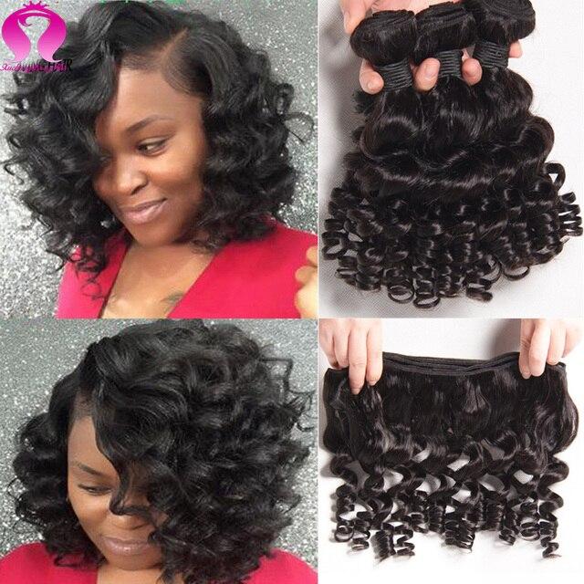 8a cabelo brasileiro profunda encaracolado cabelo maxglam 4 bundels brasileiro cabelo brasileiro da onda do corpo do cabelo virgem brasileiro curto verão curto