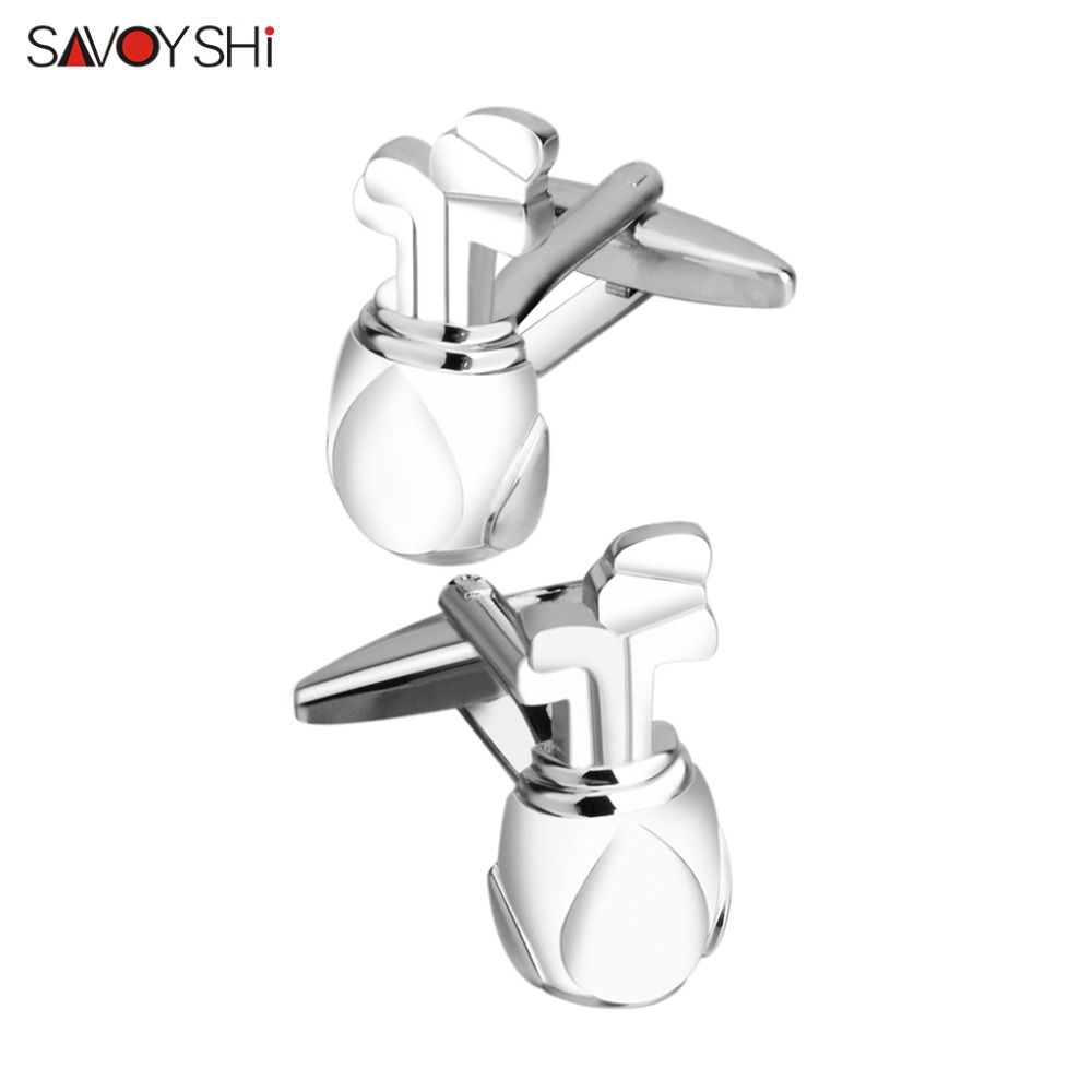 SAVOYSHI <font><b>Golf</b></font> bags <font><b>Cufflinks</b></font> for Mens Shirt Cuffs botton High Quality Novelty Copper Cuff links Fashion Brand Jewelry Design image