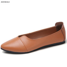Women Flats Shoes 2018 Spring Leather Ba