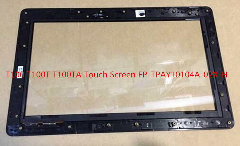 ФОТО 10.1 inch Touch Screen Digitizer For ASUS Transformer Book T100 T100T T100TA (Black cable) with frame bezel