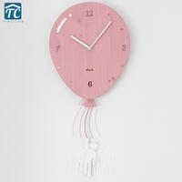 Promotion Swing Balloon Wall   Clock   Living Room Mute Bedroom Children Cartoon Creative   Clock   European Style Quartz Watch