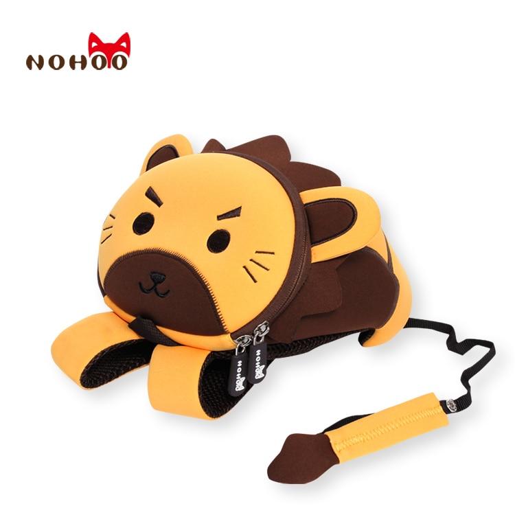 mochilas escolares NOHOO 3D Cartoon Lion School Bag para Niñas Niñas Mochila impermeable Kindergarten Lindo Animal mochila niño Bag por 2 7 años
