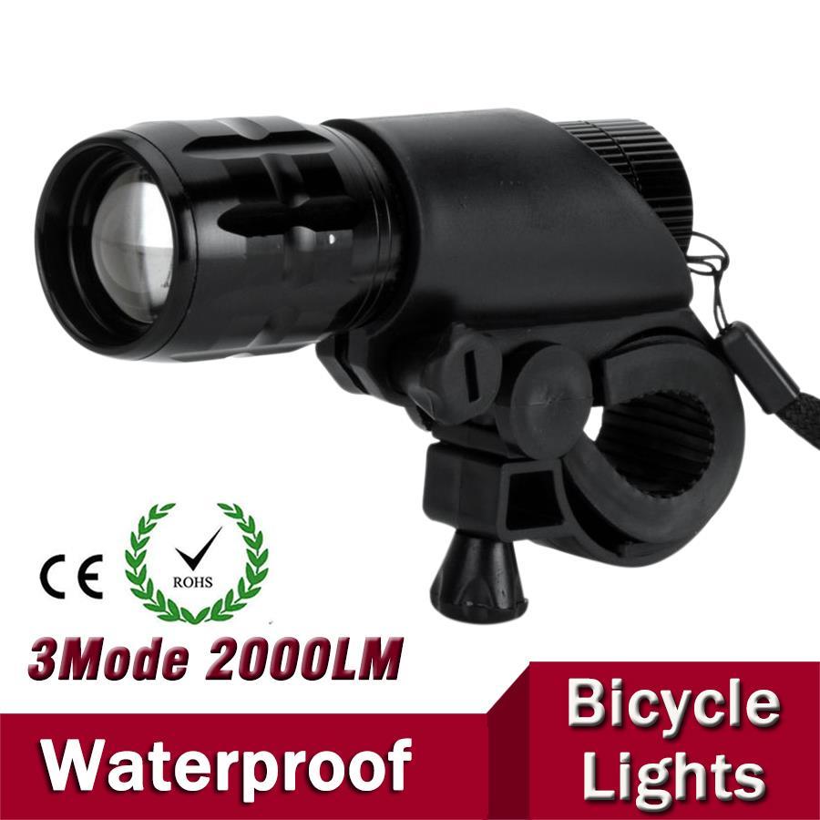 7W Q5 LED 2000lm Aluminium Waterdichte IP6 AAA-batterij met houder - Draagbare verlichting