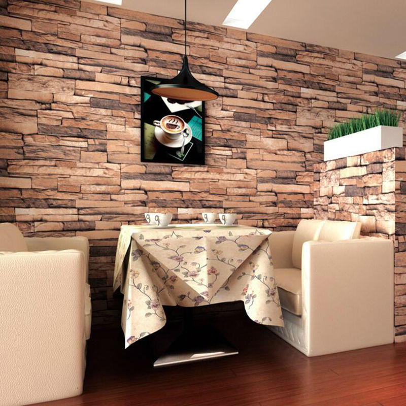 4 Colors Vintage Faux Brick Wallpaper Rolls Sand Multi 3D Realistic Stone Paper Murals Home Bedroom Living room Wall Decoration blue earth cosmic sky zenith living room ceiling murals 3d wallpaper the living room bedroom study paper 3d wallpaper