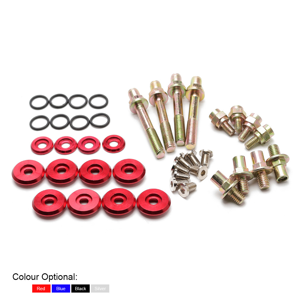 Honda Acura Low Profile Valve Cover Dress Kit for B-Series Engines Red
