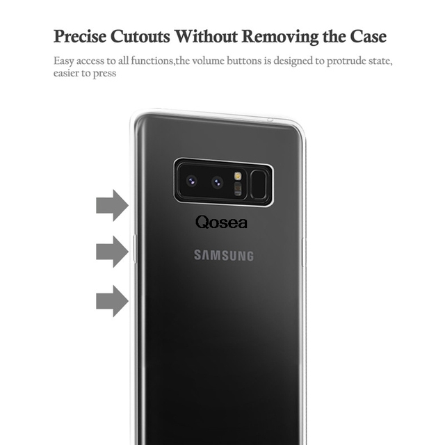 Qosea For Samsung Galaxy Note 8 Case luxury Ultra-thin Slim Silicone Soft TPU For Galaxy Note 8 Transparent Protective Cover