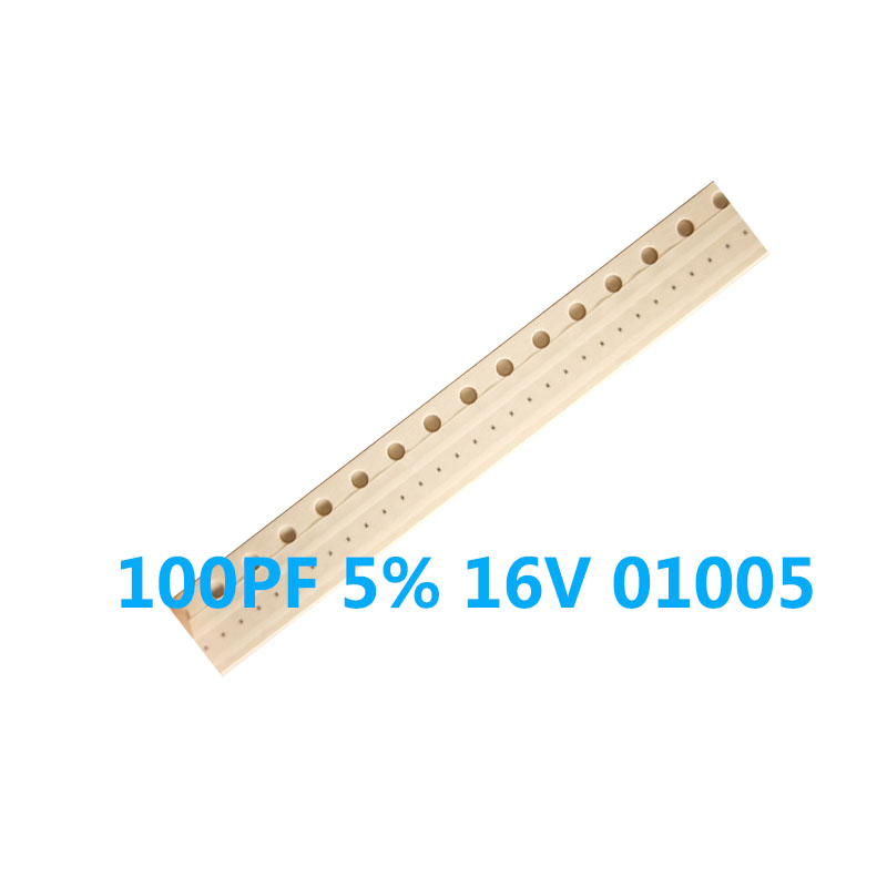 50pcs/lot 100PF 5% 16V <font><b>01005</b></font> 100PF 16V <font><b>Capacitor</b></font> for iphone 6 6p 6s 6s plus 7 7p 8 8plus image