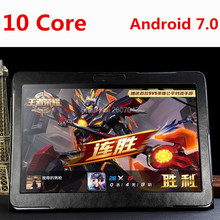 Android tablet 10 pulgadas Octa Core 3G/4G Llamada de Teléfono de 4 GB de RAM 64 GB ROM 1920*1200 IPS Cámaras Duales del Androide 7.0 GPS Tabletas 10 10.1