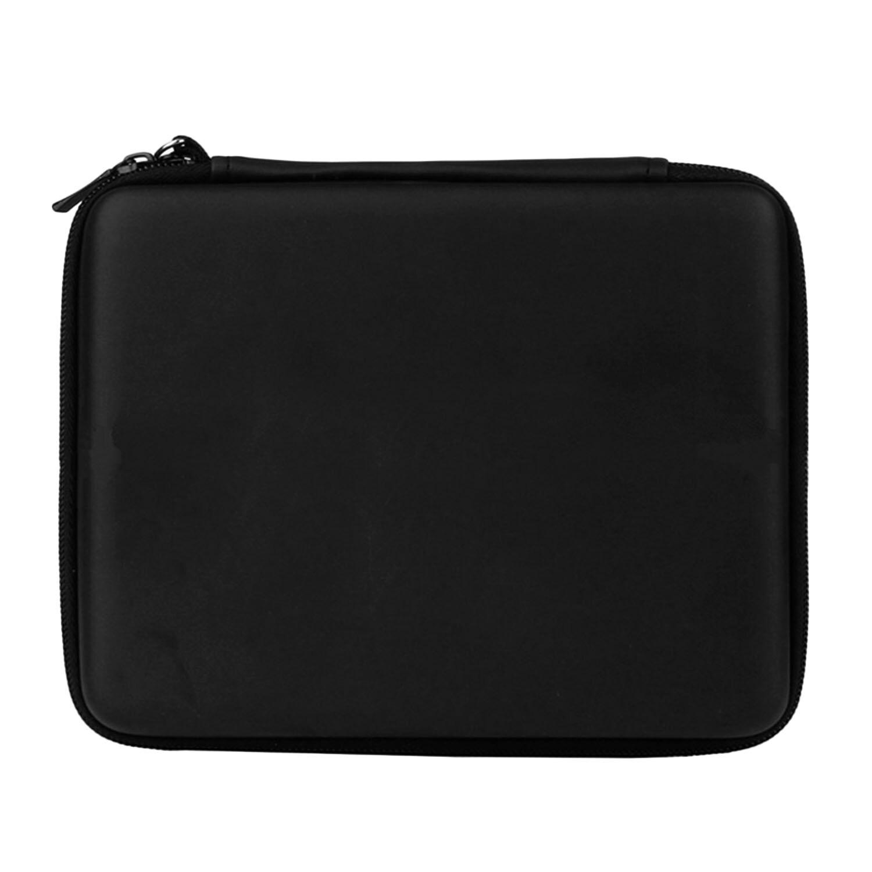 Portable Hard Shell Anti-shock Pelindung Penyimpanan Travel Hand Bag Case Holder dengan 8 Slot Kartu Permainan Carrying Strap untuk Nintendo 2DS Konsol Hitam-Intl