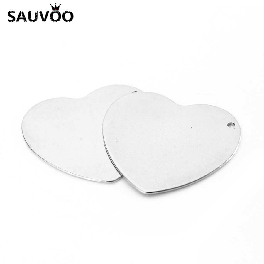 10pcs Lot 28x27mm Silver Tone 316l Stainless Steel Heart