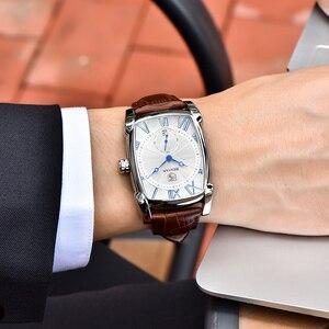 Image 3 - BENYAR zegarki mężczyźni luksusowa marka kwarcowy mężczyzna Wist zegarki skórzany wojskowy pasek Casual kwadratowy zegarek wodoodporny Reloj De Hombre