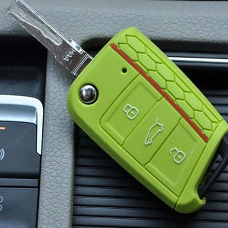 New Style Car Key Case Cover Men Women Silicone Key Cases For Car Fashion Convenience Practical High Quality Key Cases