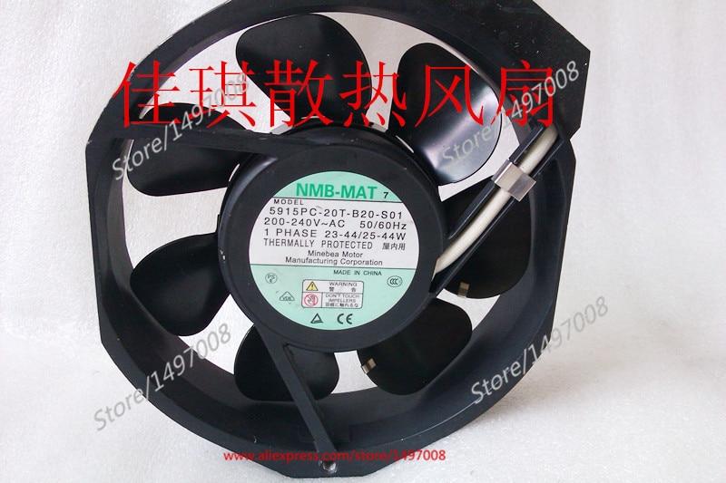 NMB-MAT 5915PC-20T-B20-S01 AC 220V 40W, 170x150x38mm 0-wire Server Square fan nmb mat 5915pc 12t b30 a00 dc 115v 35a 2 piece 150x172x38mm server round fan