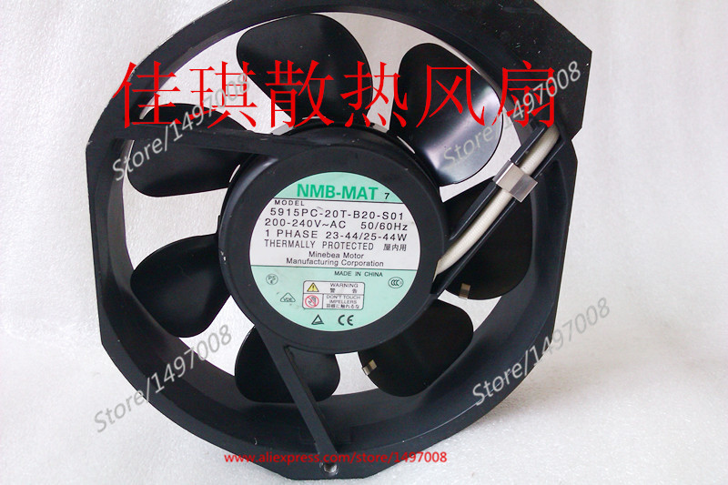 Free Shipping For  NMB 5915PC-20T-B20-S01 AC 220V 40W, 170x150x38mm 0-wire  Server Square cooling fan new 17038 double ball 220v ac fan 5915pc 23t b30 35w for nmb mat7 170 170 38mm