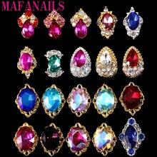Lote de 10 unidades de diamantes láser en forma Irregular, diamantes de imitación de cristal para uñas, joyería de Metal, adornos para manicura 3d DIY