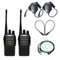 2pcs Baofeng bf-888s Walkie Talkie CB Radio+USB Programming Cable Driver CD+2 x Handheld Microphone Speaker+2 x NA-771 Antenna