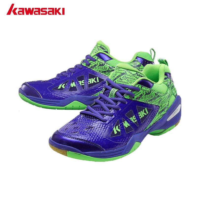 Pravi Kawasaki Marke cipele za badminton za žene Muškarci odrasle PU koža disanje mrežice zatvoreni tenisice muške sportske cipele K-338