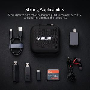 Image 5 - ORICO אוזניות בעל מקרה שקית אוזניות אביזרי נייד לחץ הלם קליטה USB כבל נתונים אחסון חבילה תיק