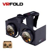 VR FOLD V1 VR Glasses Immersive Virtual Reality 3D VR Headset Binocular VR Box for 4.0 – 6.0 inch Smartphone Cradboard