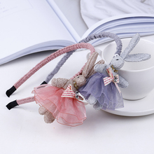 New Korean Fashion Princess Baby Rabbit Hairband Sweet Girl Childrens Headwear Cute Hair Accessories