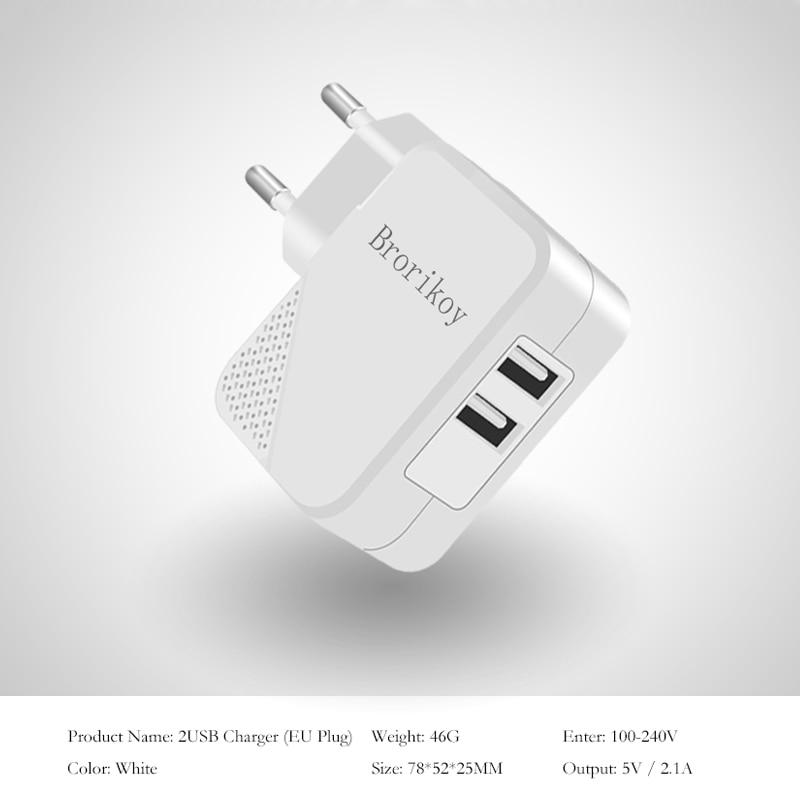2 Port USB Wall Charger Untuk Perangkat iPhone iPad Samsung ios Micro - Aksesori dan suku cadang ponsel - Foto 2