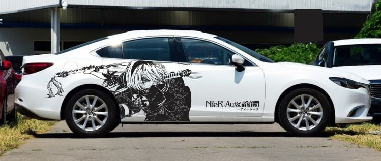 Popular Anime CarsBuy Cheap Anime Cars Lots From China Anime Cars - Anime car body sticker