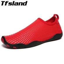 Tfsland пары болотных обувь Для женщин Для мужчин дышащие пляжные сандалии быстросохнущие Йога Спортивный дайвинг обувь мягкие Быстросохнущие кроссовки